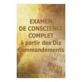Examen de conscience complet à partir des Dix Commandements