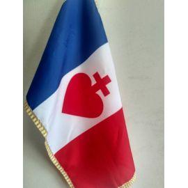 Drapeau bleu blanc rouge Sacré-Cœur vendéen