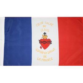 Drapeau bleu blanc rouge Sacré-Coeur