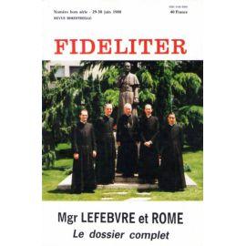 Mgr Lefebvre et Rome