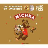 Michka avec un CD
