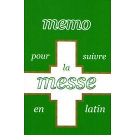 Memo pour suivre la messe en latin
