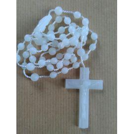 Chapelet en plastique blanc