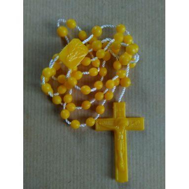 Chapelet en plastique jaune