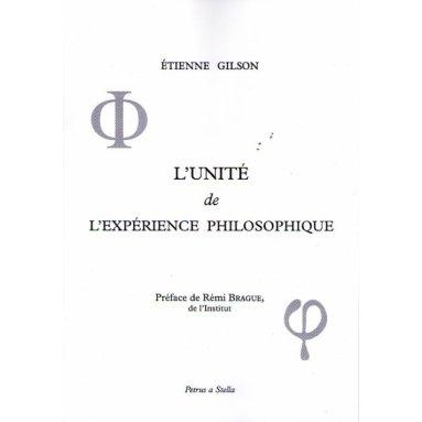 L'unité de l'expérience philosphique