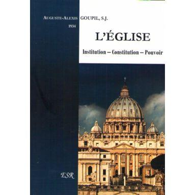 L'Eglise Institution - Constitution - Pouvoir