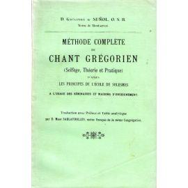 Méthode complète de Chant Grégorien