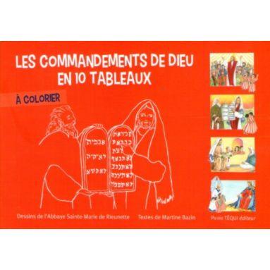 Les commandements de Dieu en dix tableaux