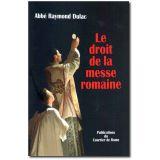 Le droit de la messe romaine