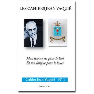 Cahier Jean Vaquié N°1