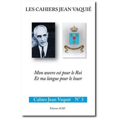 Cahier Jean Vaquié N°3