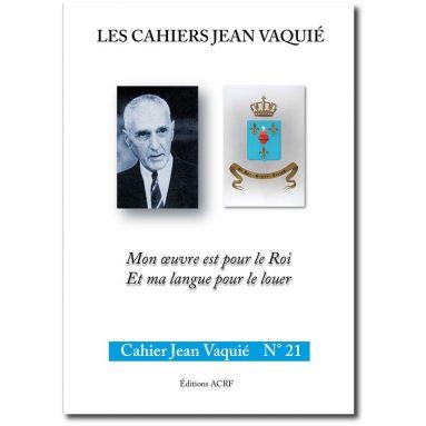 Cahier Jean Vaquié N°21