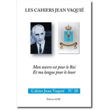 Cahier Jean Vaquié N°20