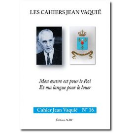 Cahier Jean Vaquié N°16