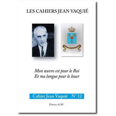 Cahier Jean Vaquié N°12