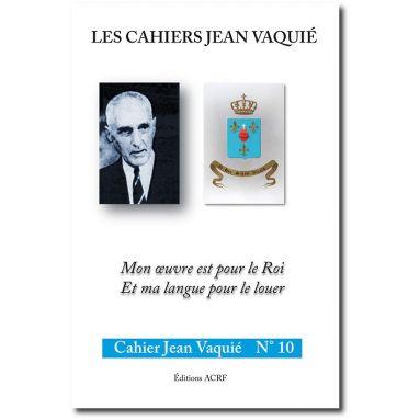Cahier Jean Vaquié N°10