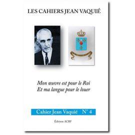 Cahier Jean Vaquié N°4