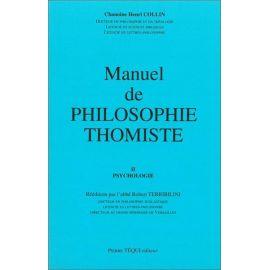 Manuel de philosophie thomiste Tome 2