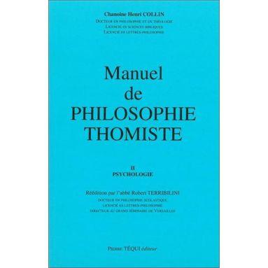 Chanoine Henri Collin - Manuel de philosophie thomiste Tome 2
