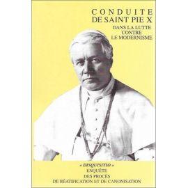 Conduite de saint Pie X dans la lutte contre le modernisme