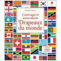 Drapeaux du monde, coloriages et autocollants