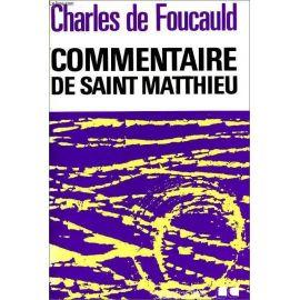 Commentaire de Saint Matthieu