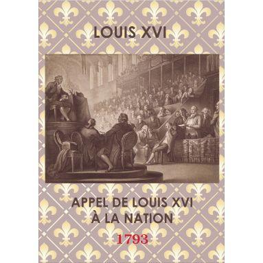 Louis XVI - Appel de Louis XVI à la Nation