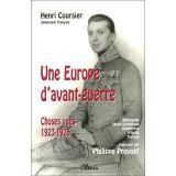 Une Europe d'avant-guerre - Henri Couriser