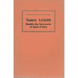 Saint Louis modèle des Souverains et Chefs d'Etats