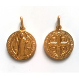 Saint Benoît médaille dorée