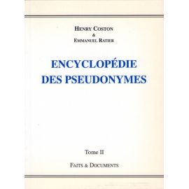 Encyclopédie des Pseudonymes Tome II