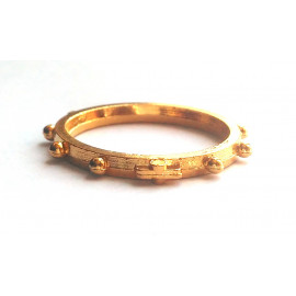 Dizainier bague métal doré