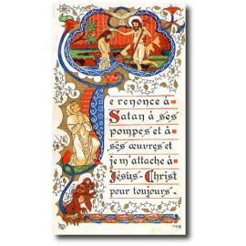 Je renonce à Satan à ses pompes et à ses oeuvres et...