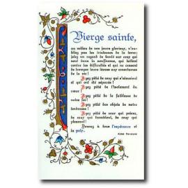 Vierge sainte, au milieu de vos jours glorieux