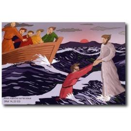 Jésus marche sur les eaux
