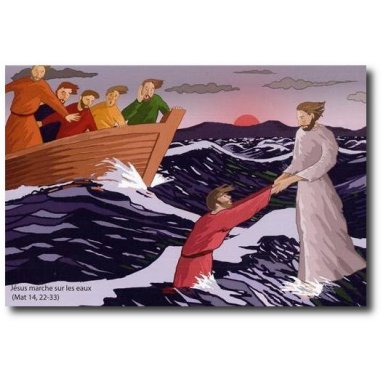 Odile de Bouvier - Jésus marche sur les eaux