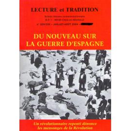 Lecture et Tradition - Du nouveau sur la Guerre d'Espagne