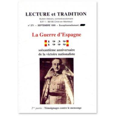 Lecture et Tradition - La Guerre d'Espagne 1939-1999 - 2ème partie