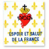 Drapeau Fleurs de lys et Sacré-Coeur