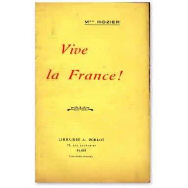 Mgr Joseph Rozier - Vive la France