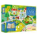 A la ferme - Un livre Cherche et trouve - un puzzle de 100 pièces