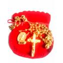 Chapelet plaqué or - Médaille miraculeuse