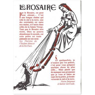 Le rosaire - Dépliant pour la récitation du Rosaire