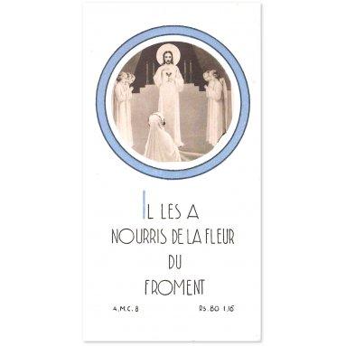 A.M.C. - Il les a nourris de la fleur du froment - Fille avec anges et Jésus