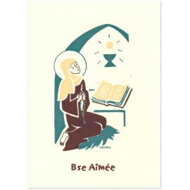 Bénédictines de Vénières - bienheureuse Aimée Carte double