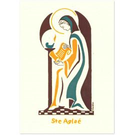 Bénédictines de Vénières - Carte double Aglaé sainte