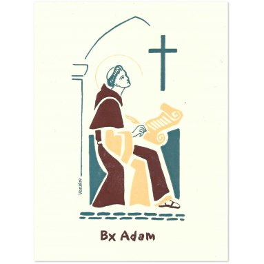 Bénédictines de Vénières - Carte double Adam bienheureux
