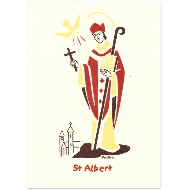 Bénédictines de Vénières - Carte double Albert saint