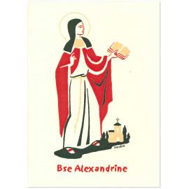Bénédictines de Vénières - Bienheureuse Alexandrine Carte double