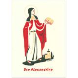 Bienheureuse Alexandrine Carte double